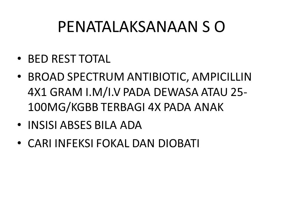 PENATALAKSANAAN S O BED REST TOTAL