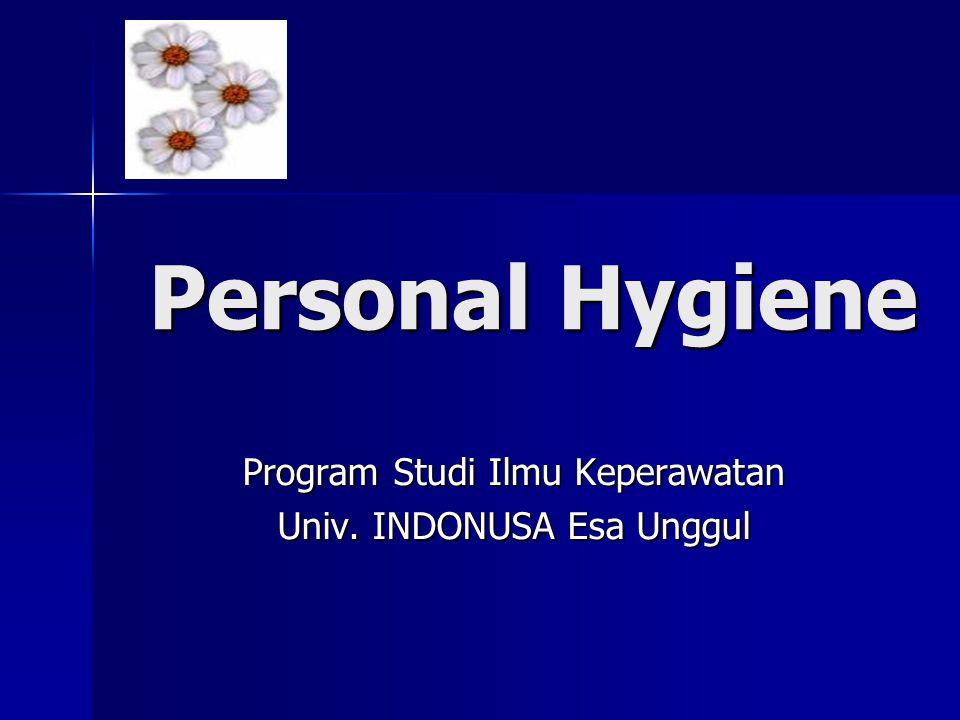 Program Studi Ilmu Keperawatan Univ. INDONUSA Esa Unggul