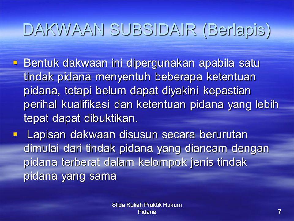 DAKWAAN SUBSIDAIR (Berlapis)