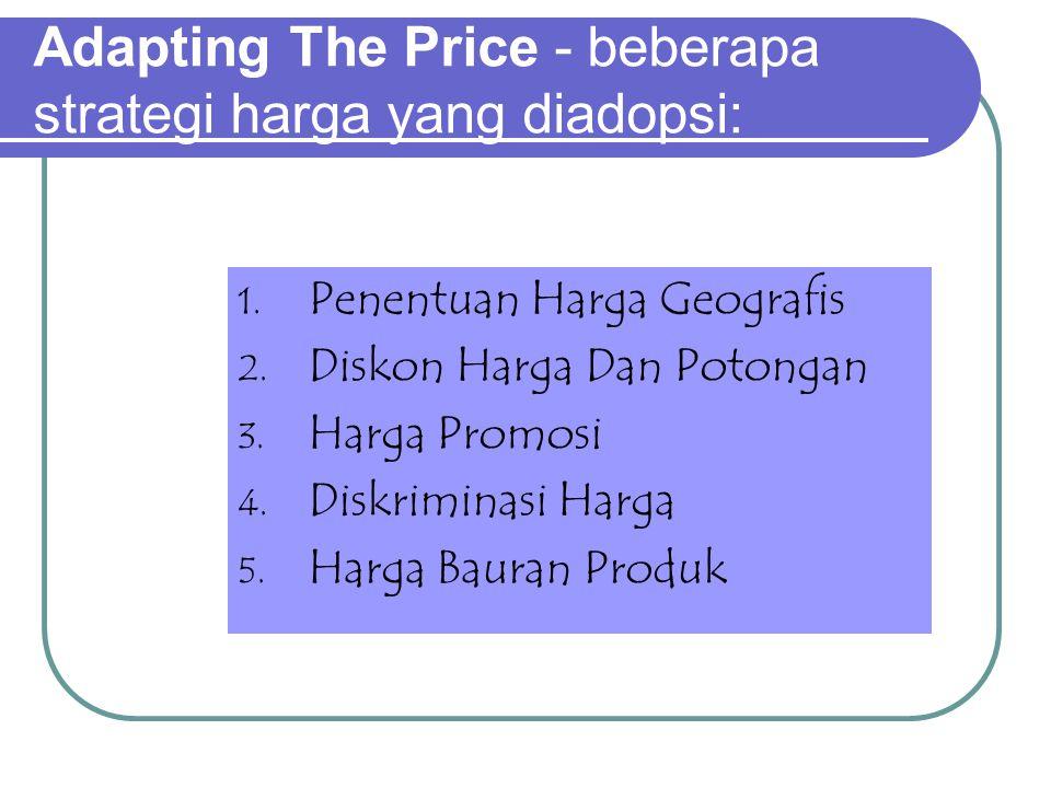 Adapting The Price - beberapa strategi harga yang diadopsi: