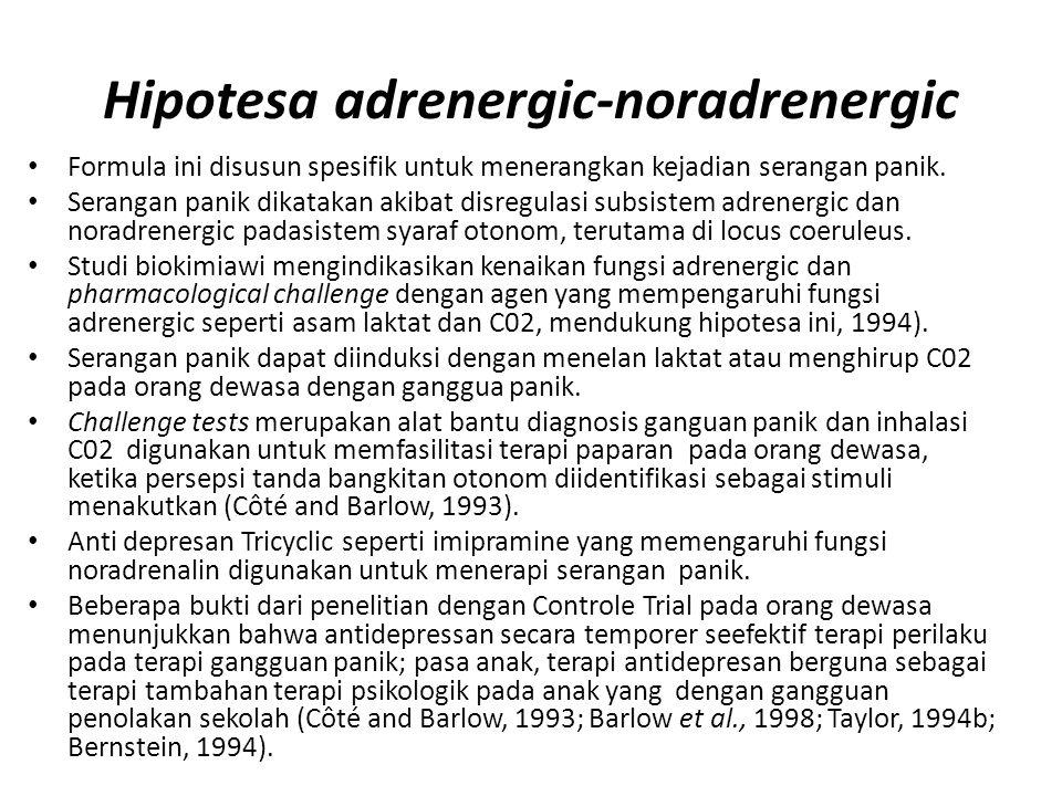 Hipotesa adrenergic-noradrenergic
