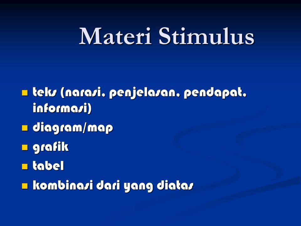 Materi Stimulus teks (narasi, penjelasan, pendapat, informasi)