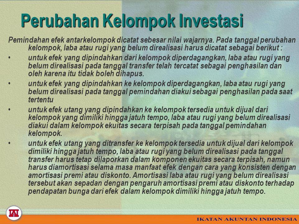 Perubahan Kelompok Investasi