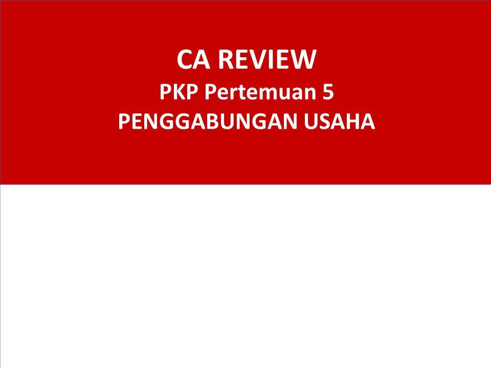 CA REVIEW PKP Pertemuan 5 PENGGABUNGAN USAHA