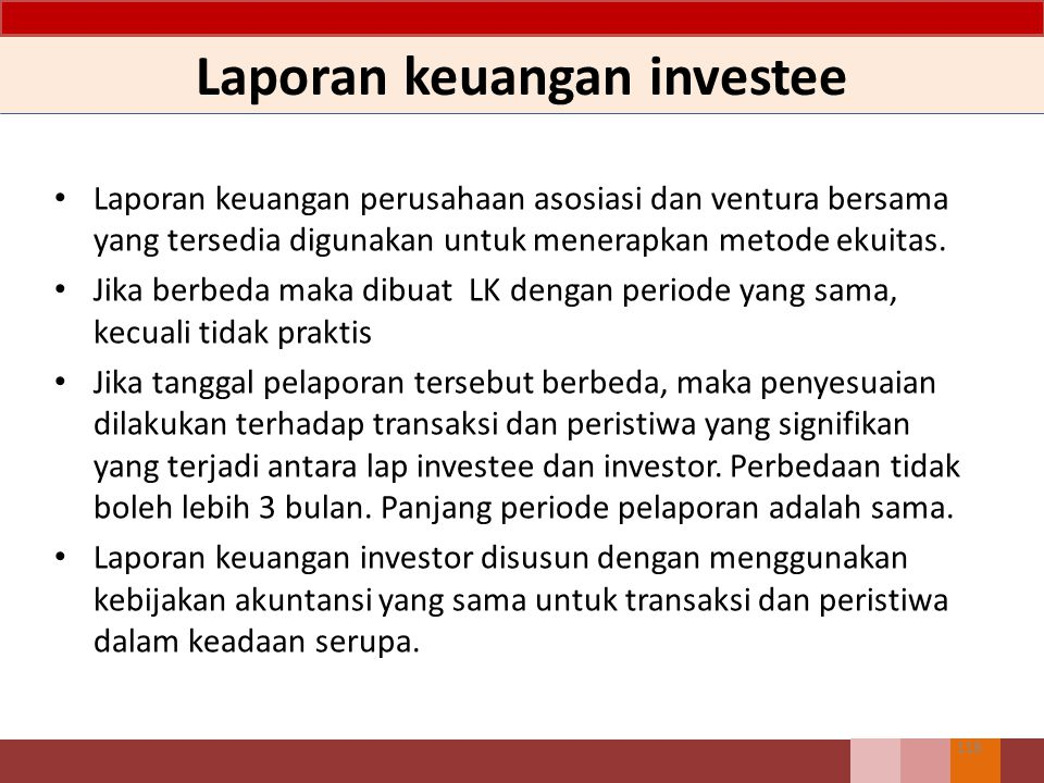 Laporan keuangan investee