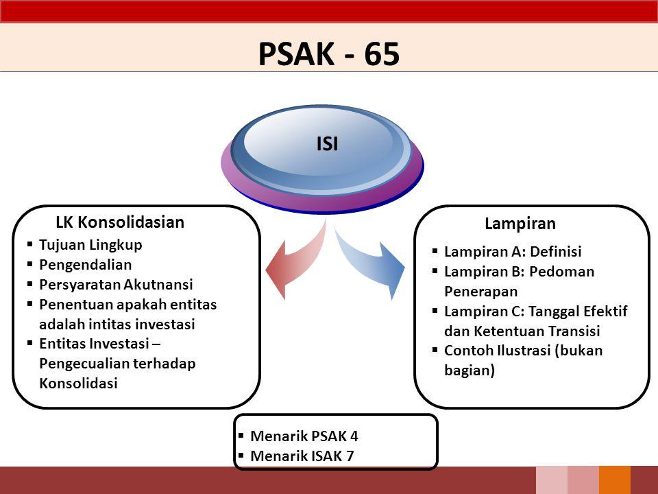 PSAK - 65 ISI LK Konsolidasian Lampiran Tujuan Lingkup