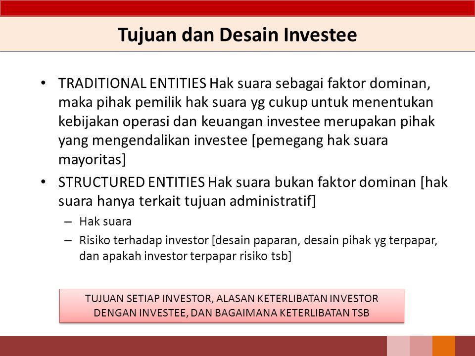 Tujuan dan Desain Investee