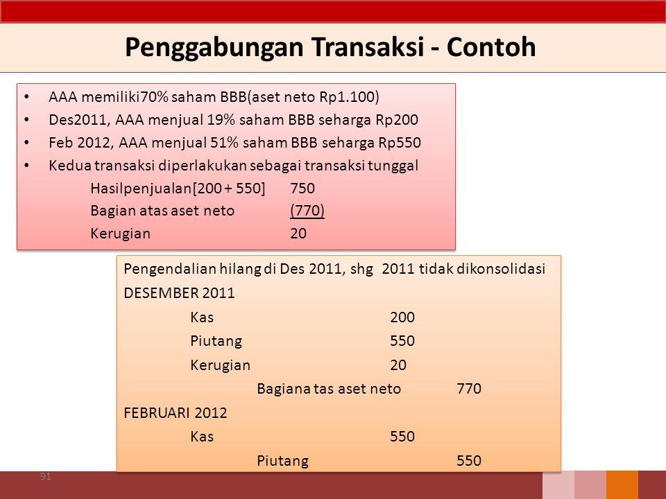 Penggabungan Transaksi - Contoh