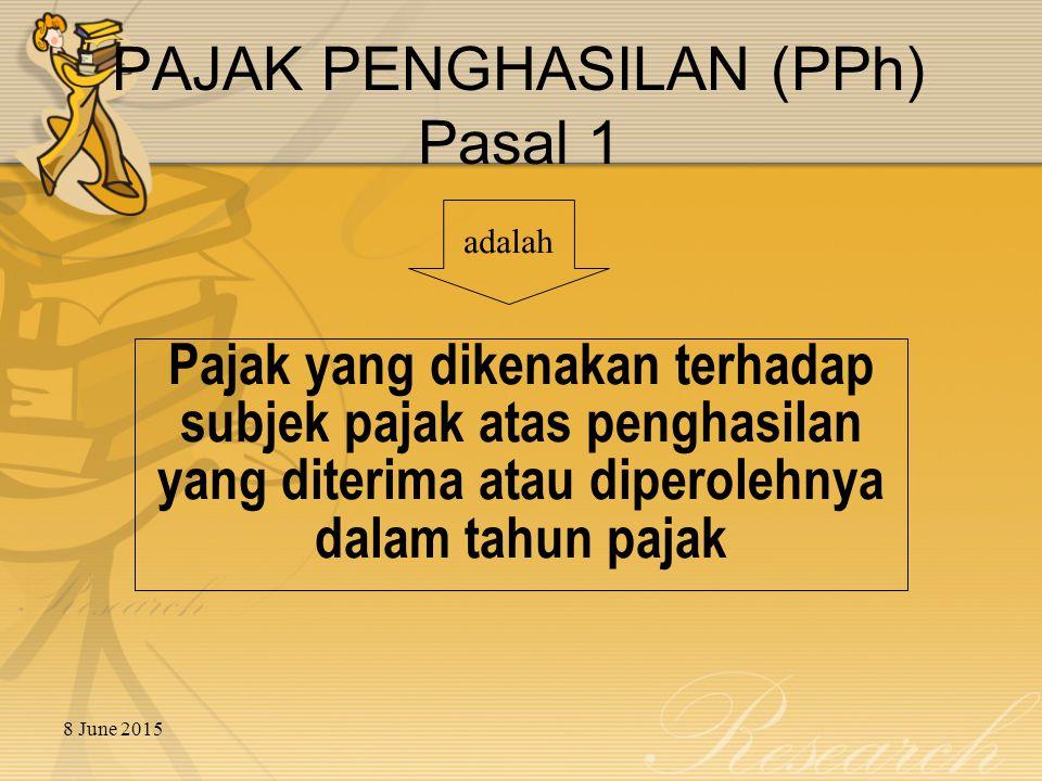 PAJAK PENGHASILAN (PPh) Pasal 1