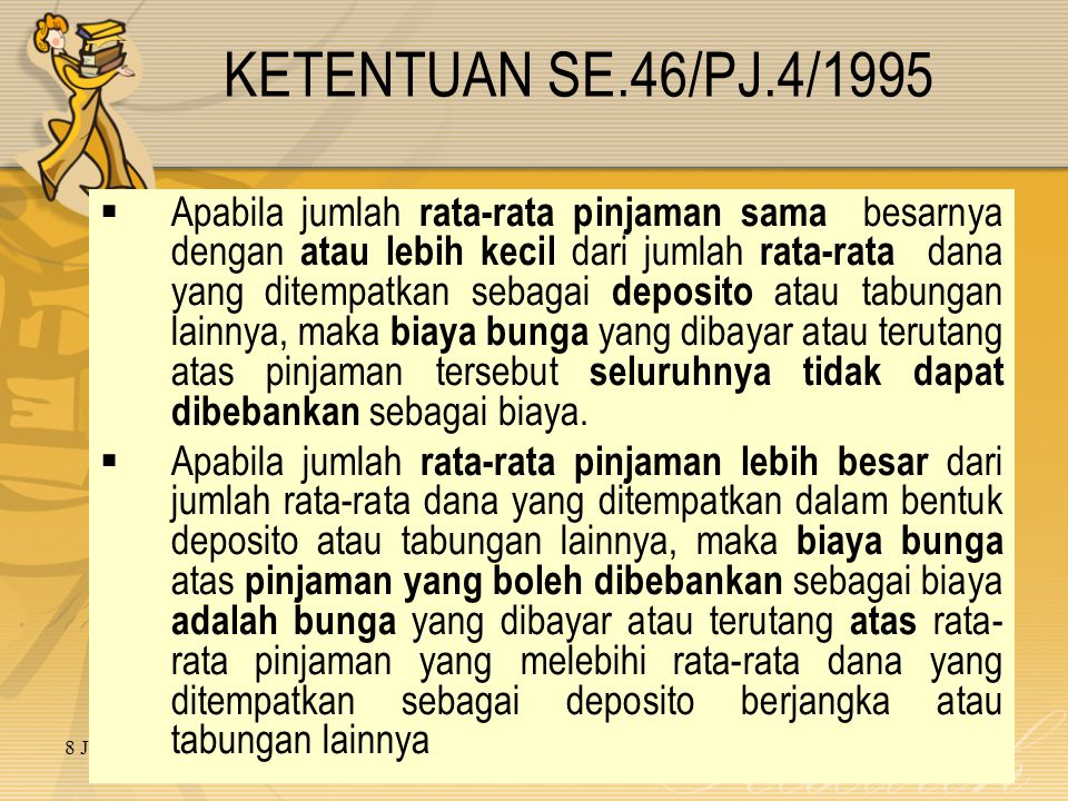 KETENTUAN SE.46/PJ.4/1995