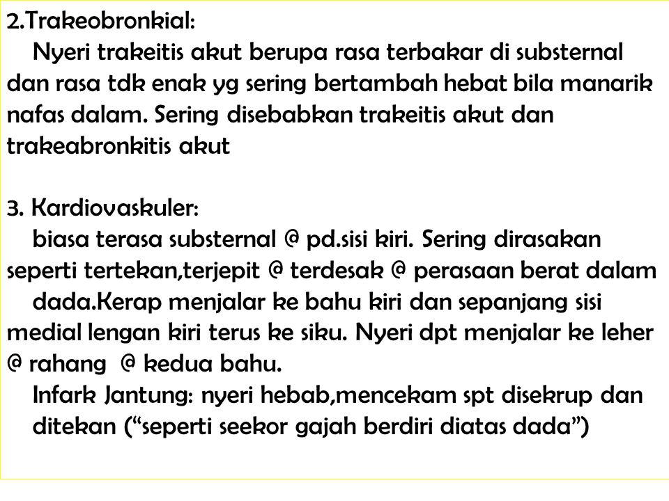 2.Trakeobronkial: