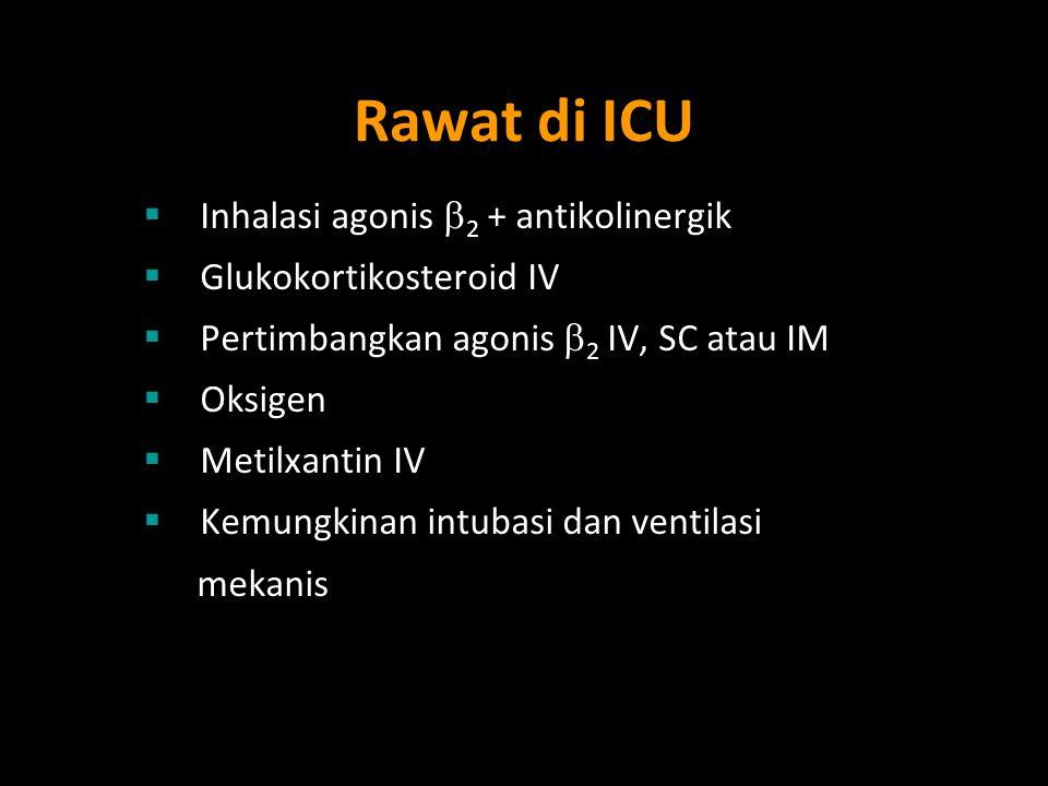 Rawat di ICU Inhalasi agonis 2 + antikolinergik