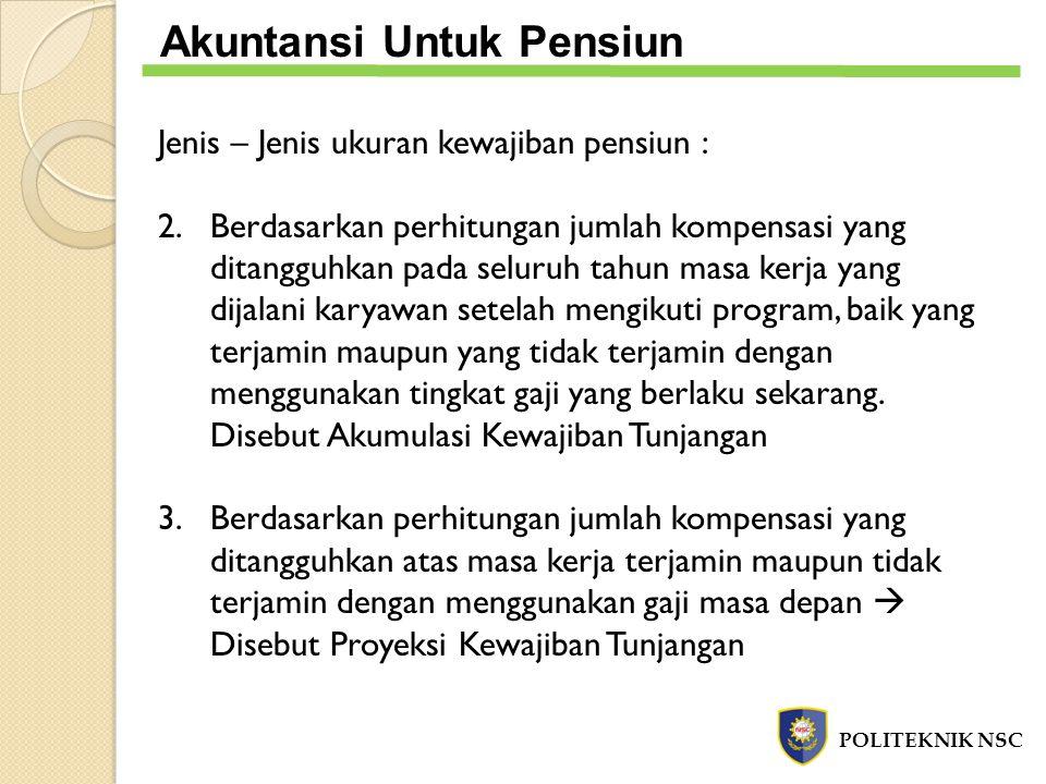 Akuntansi Untuk Pensiun