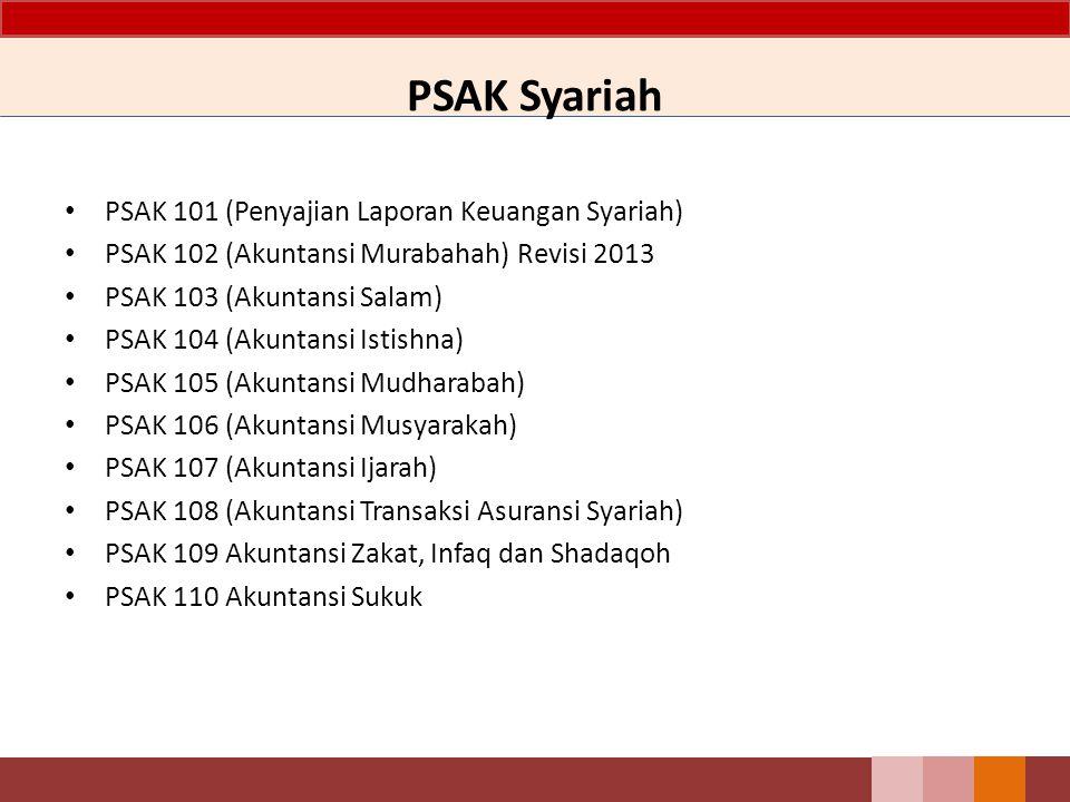 PSAK Syariah PSAK 101 (Penyajian Laporan Keuangan Syariah)