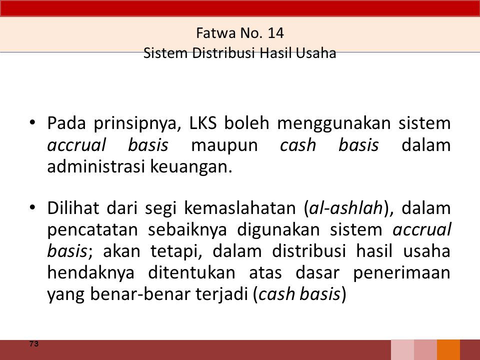 Fatwa No. 14 Sistem Distribusi Hasil Usaha