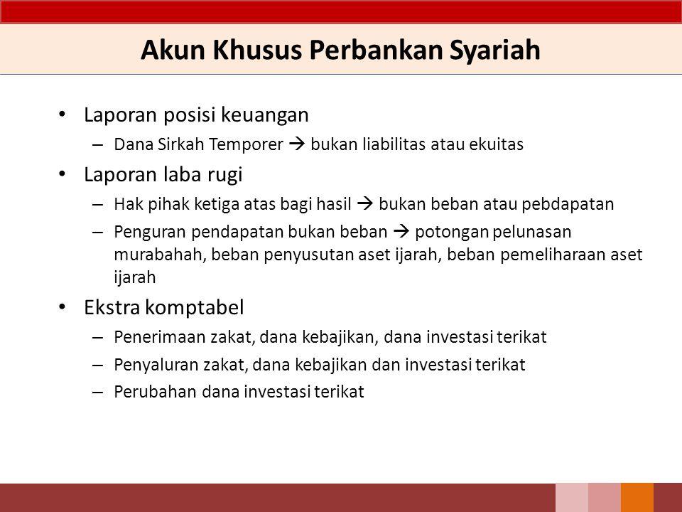 Akun Khusus Perbankan Syariah