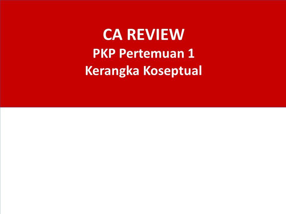 CA REVIEW PKP Pertemuan 1 Kerangka Koseptual