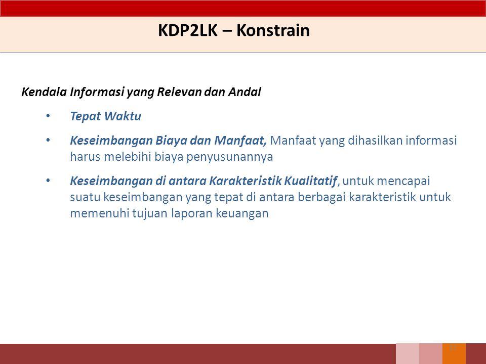 KDP2LK – Konstrain Kendala Informasi yang Relevan dan Andal