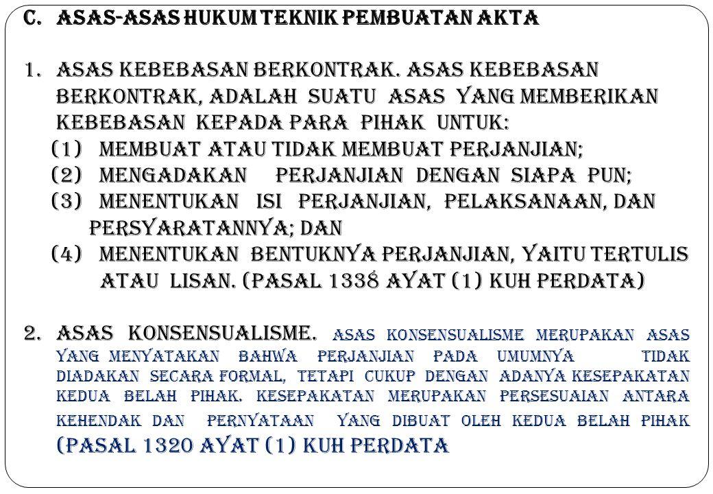 Asas-asas Hukum Teknik Pembuatan Akta