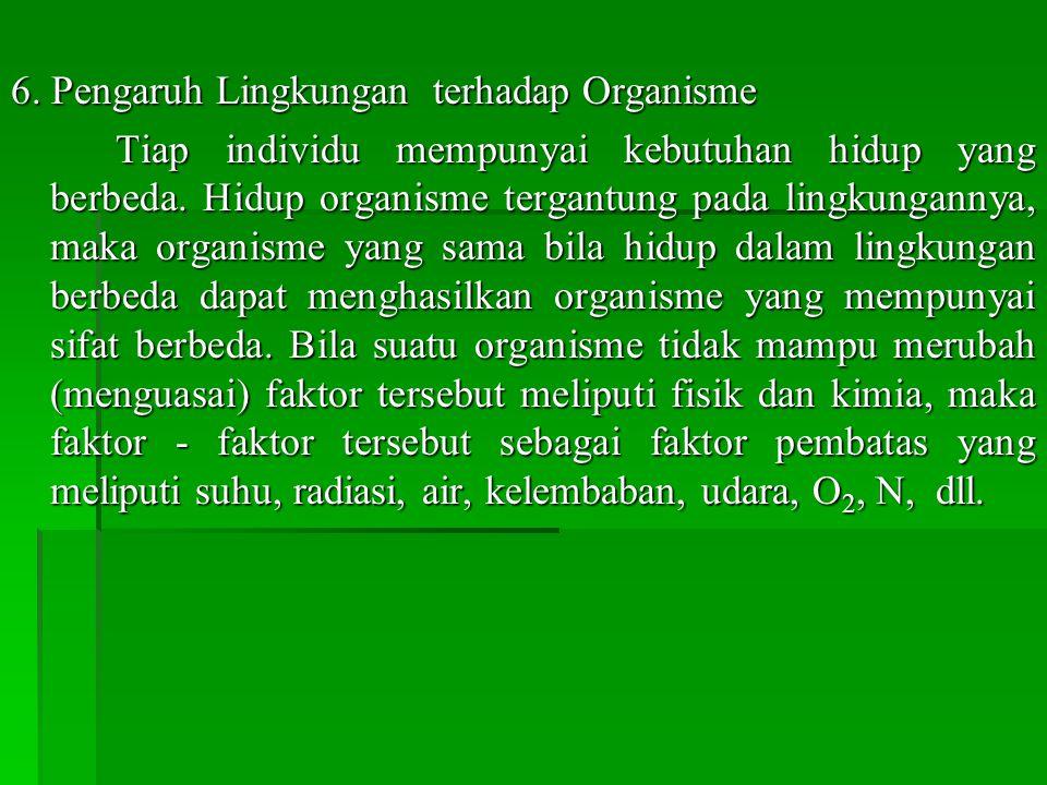 6. Pengaruh Lingkungan terhadap Organisme