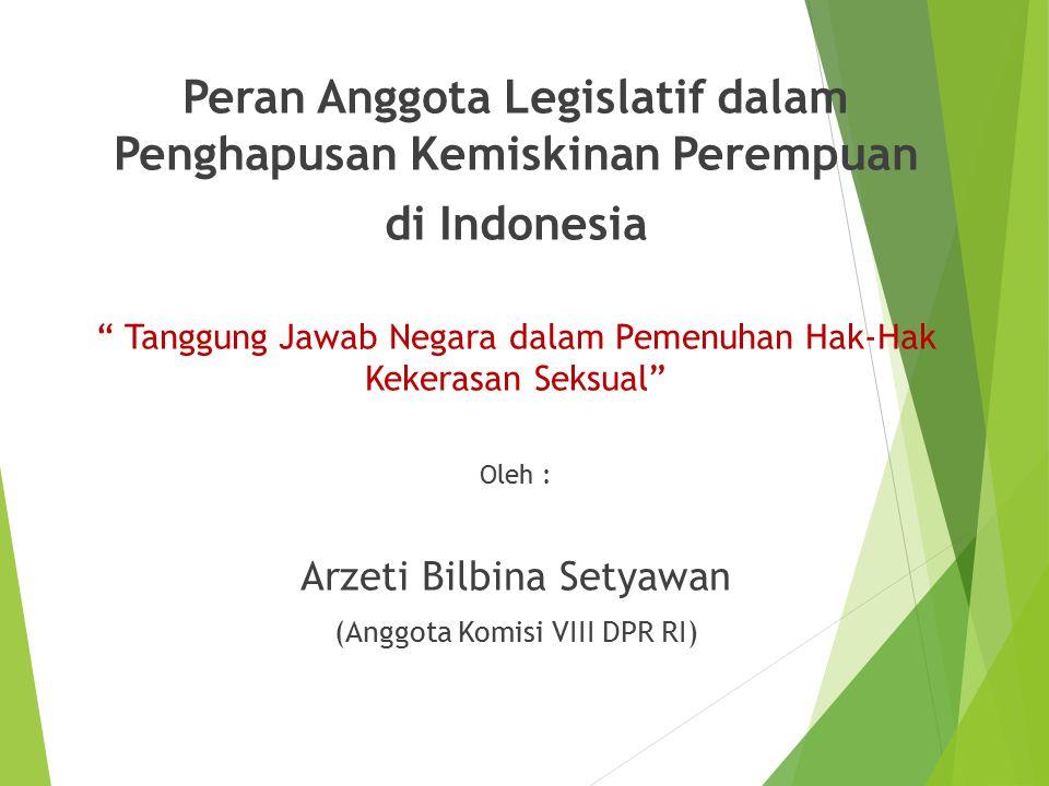 Peran Anggota Legislatif dalam Penghapusan Kemiskinan Perempuan