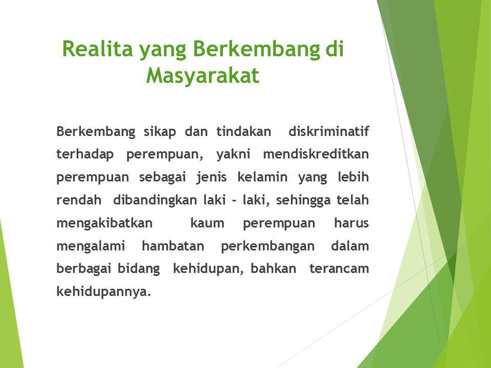 Realita yang Berkembang di Masyarakat