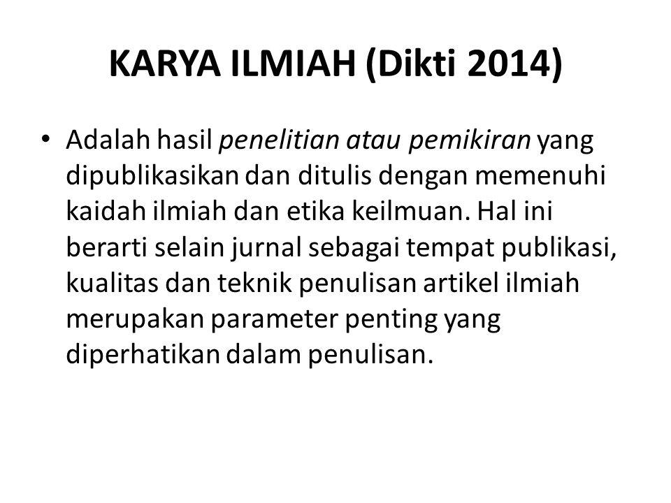 KARYA ILMIAH (Dikti 2014)