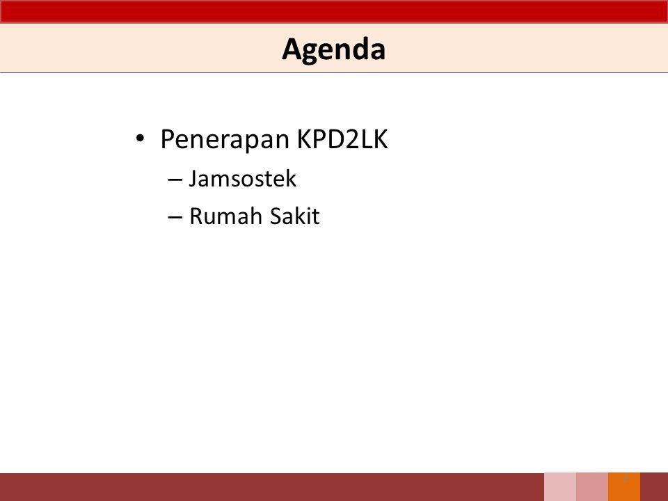 Agenda Penerapan KPD2LK Jamsostek Rumah Sakit