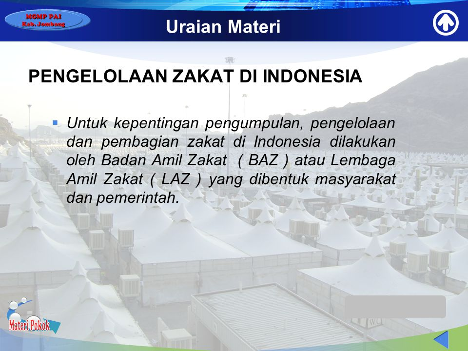 Materi Pokok Uraian Materi PENGELOLAAN ZAKAT DI INDONESIA