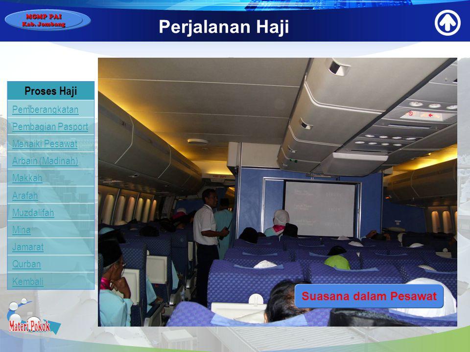 Materi Pokok Perjalanan Haji Proses Haji Suasana dalam Pesawat