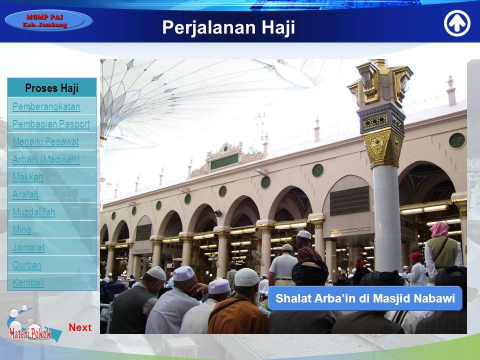 Shalat Arba'in di Masjid Nabawi
