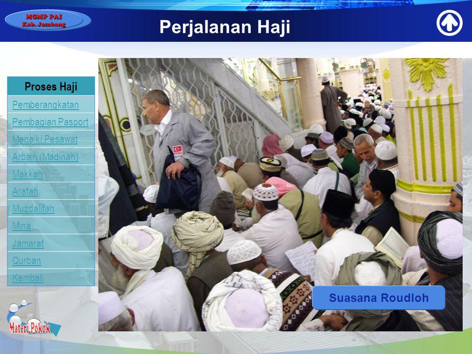 Materi Pokok Perjalanan Haji Proses Haji Suasana Roudloh