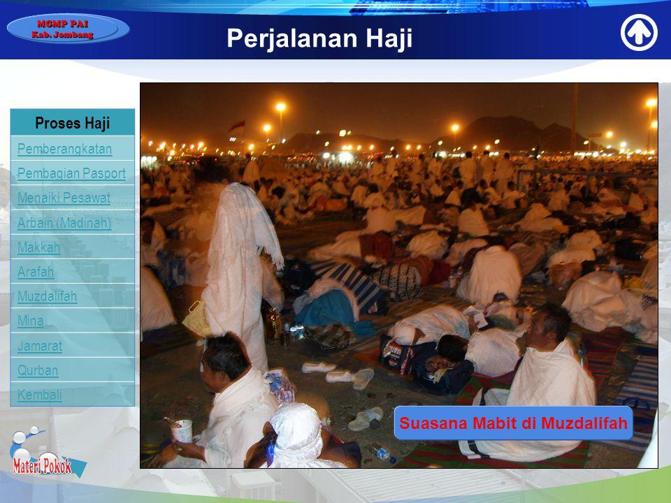 Suasana Mabit di Muzdalifah