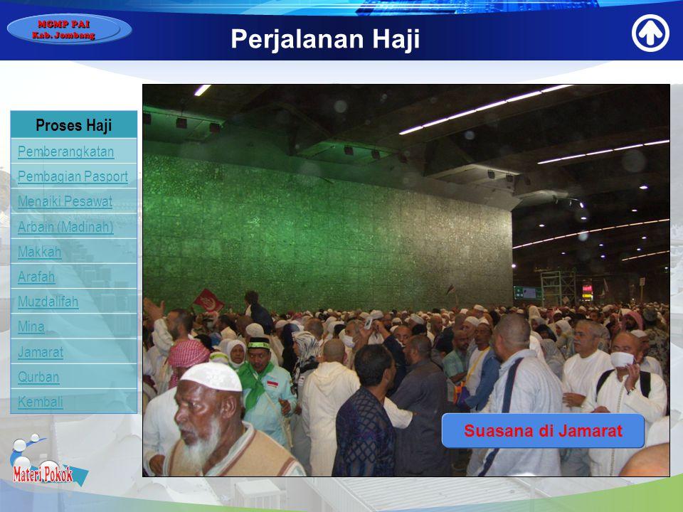 Materi Pokok Perjalanan Haji Proses Haji Suasana di Jamarat