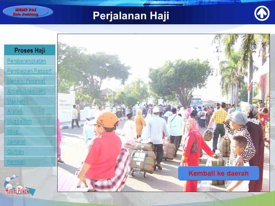 Materi Pokok Perjalanan Haji Proses Haji Kembali ke daerah
