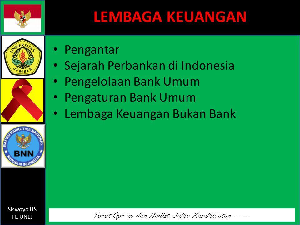 LEMBAGA KEUANGAN Pengantar Sejarah Perbankan di Indonesia