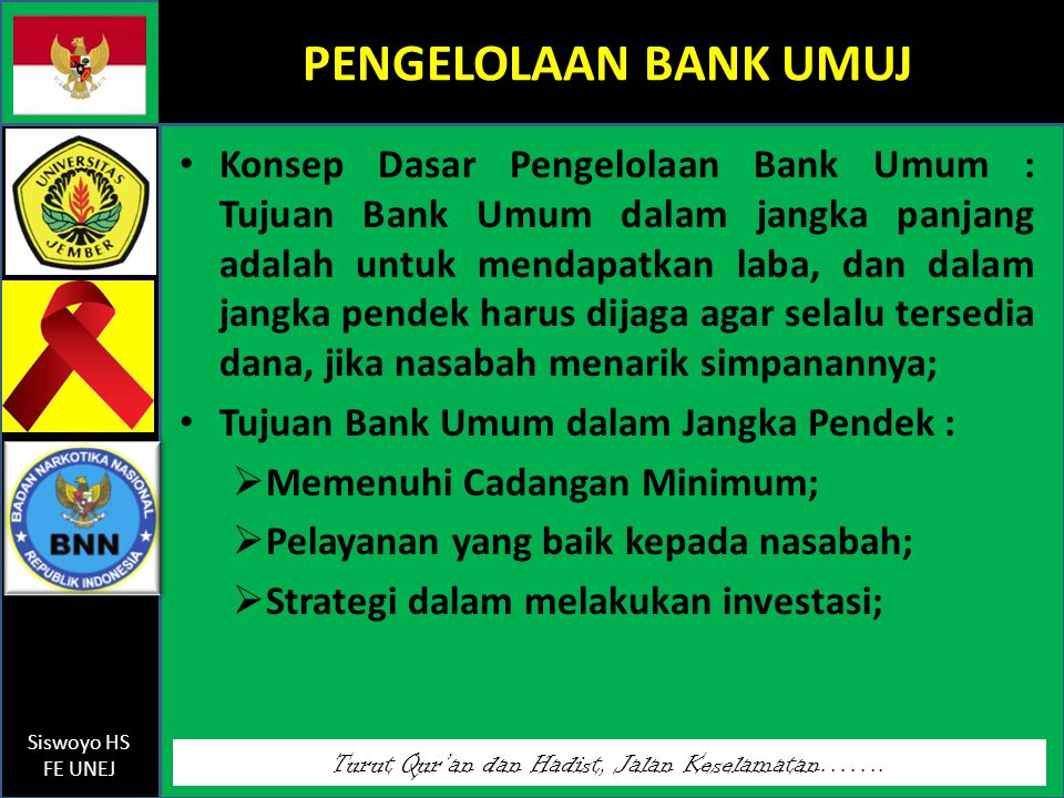 PENGELOLAAN BANK UMUJ