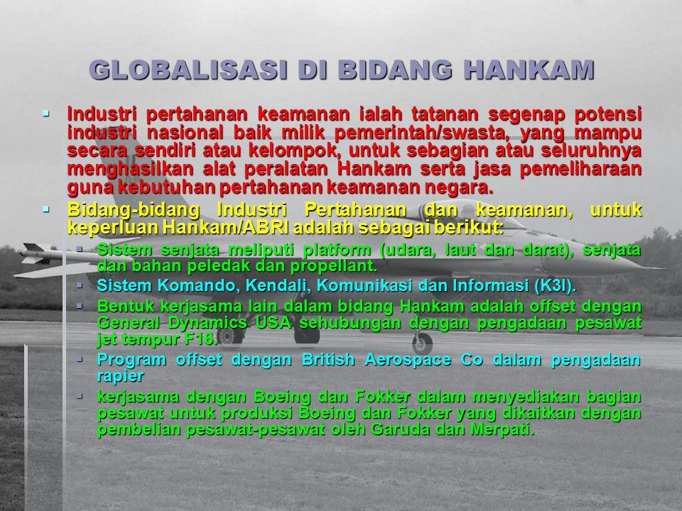 GLOBALISASI DI BIDANG HANKAM