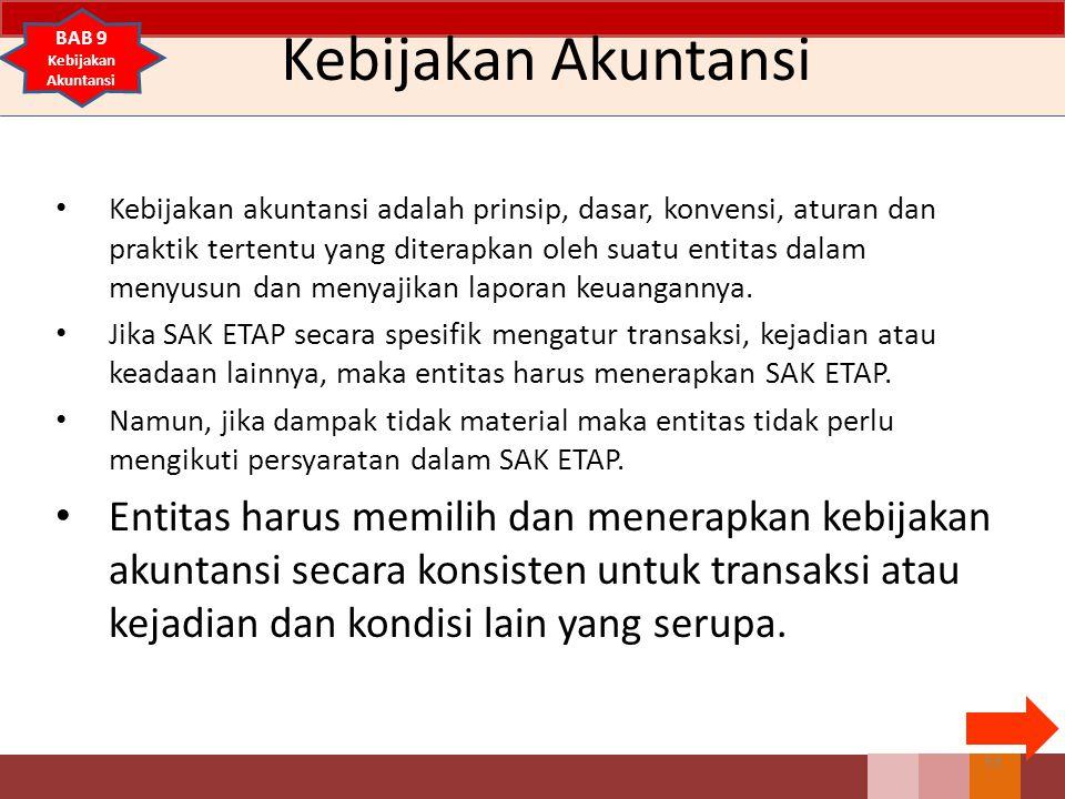 Kebijakan Akuntansi BAB 9. Kebijakan Akuntansi.