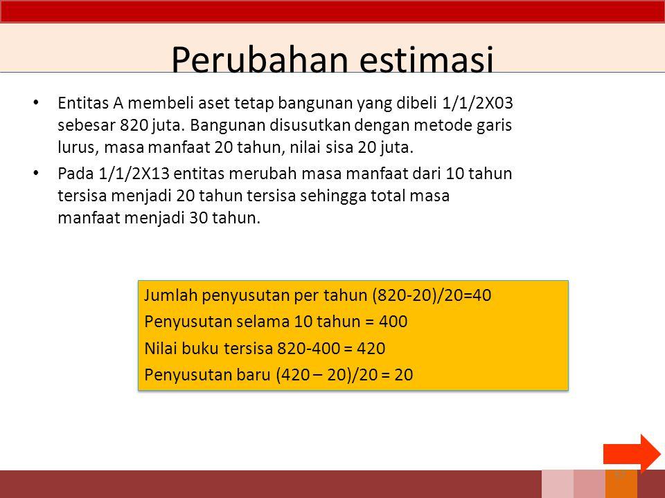 Perubahan estimasi