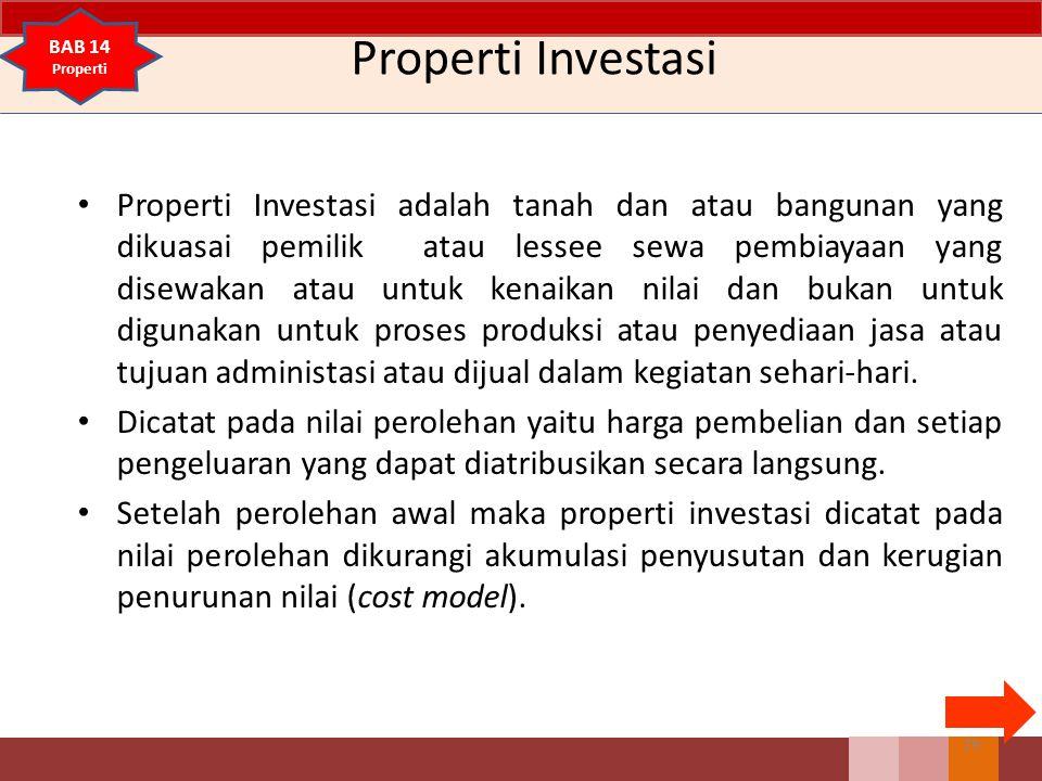Properti Investasi BAB 14. Properti.