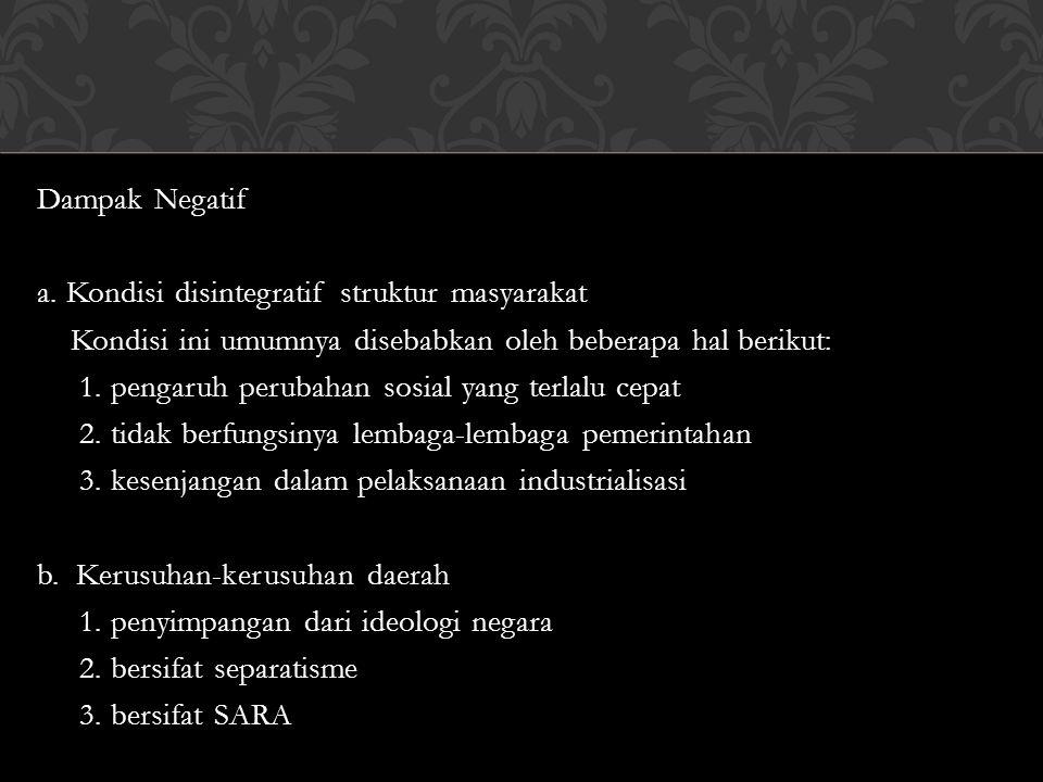 Dampak Negatif a.