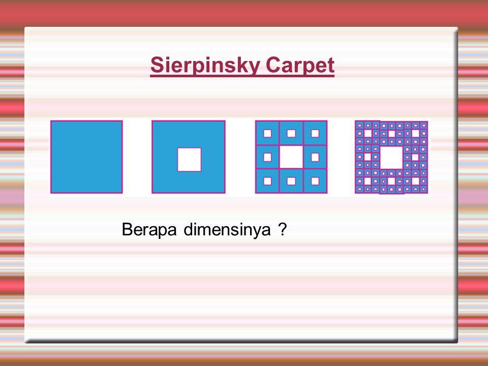 Sierpinsky Carpet Berapa dimensinya