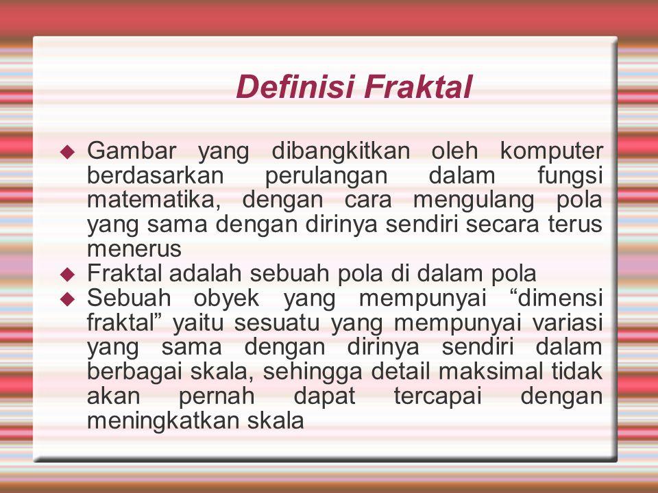 Definisi Fraktal