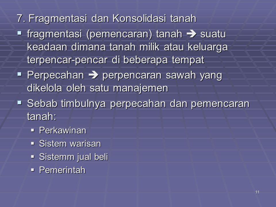 7. Fragmentasi dan Konsolidasi tanah