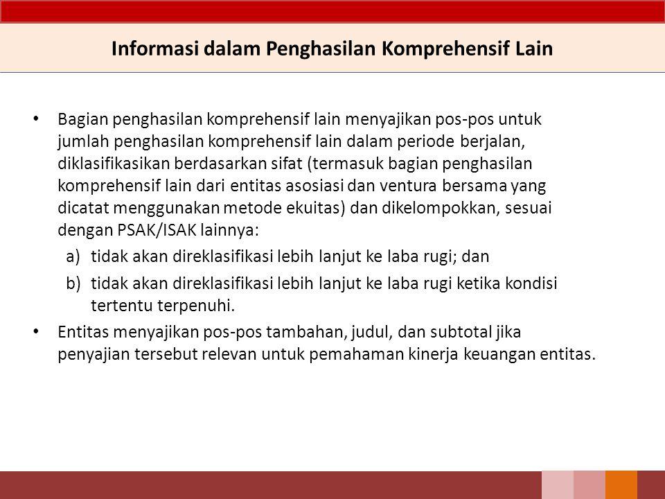Informasi dalam Penghasilan Komprehensif Lain