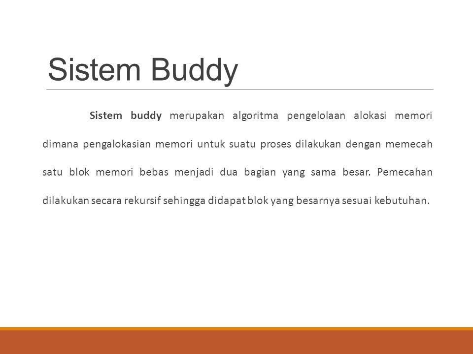 Sistem Buddy