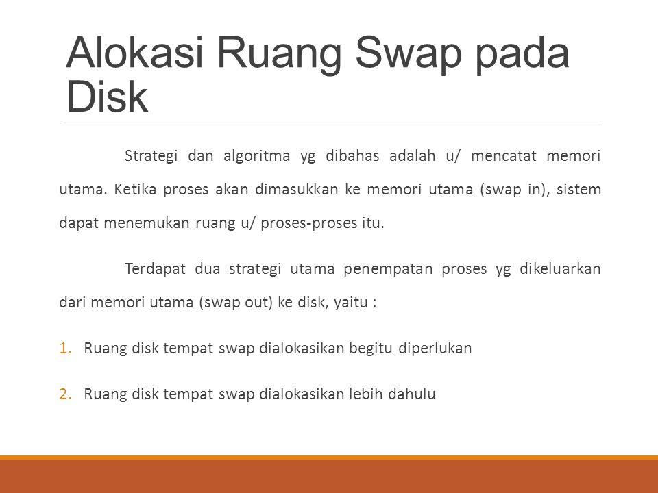 Alokasi Ruang Swap pada Disk