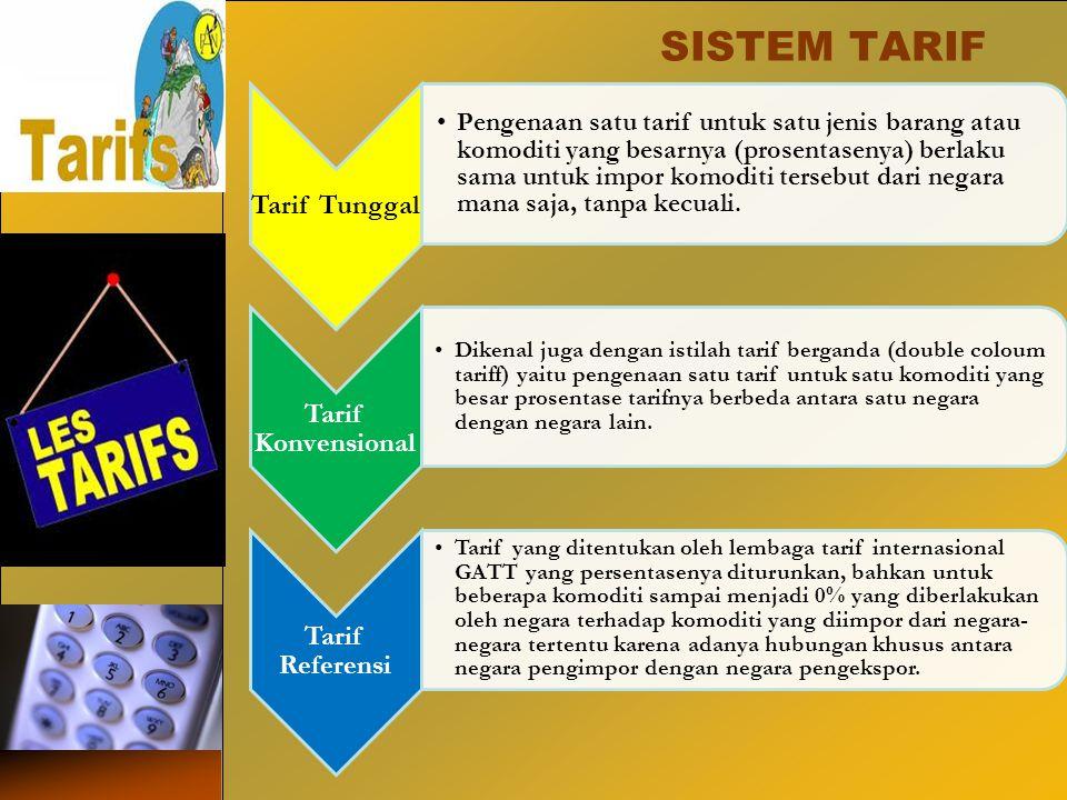 SISTEM TARIF Tarif Tunggal.