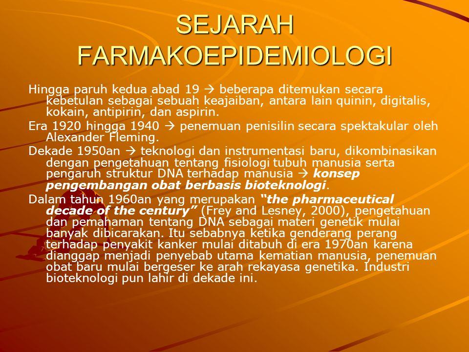 SEJARAH FARMAKOEPIDEMIOLOGI